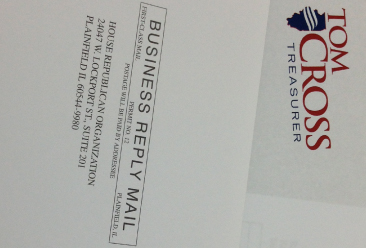 Tom Cross campaign mailer raises legal questions