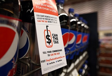 WGN: Cook County Board Approves Repeal Of Soda Tax