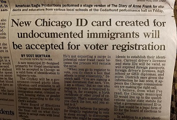 TRIBUNE: Chicago ID Card Would Be Valid Voter Identification